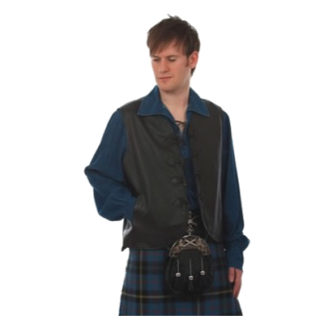 4 Tog Leather Waistcoat