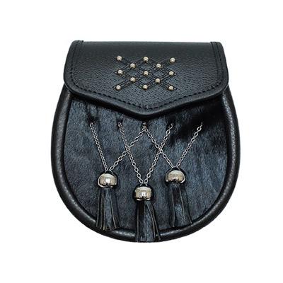 Black Fur Semi Dress Sporran