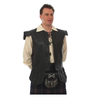 Chieftain Leather Waistcoat