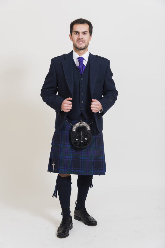 Navy Arrochar Tweed Outfit