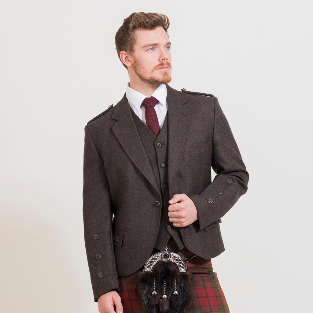 Peat Brown Jacket & Waistcoat