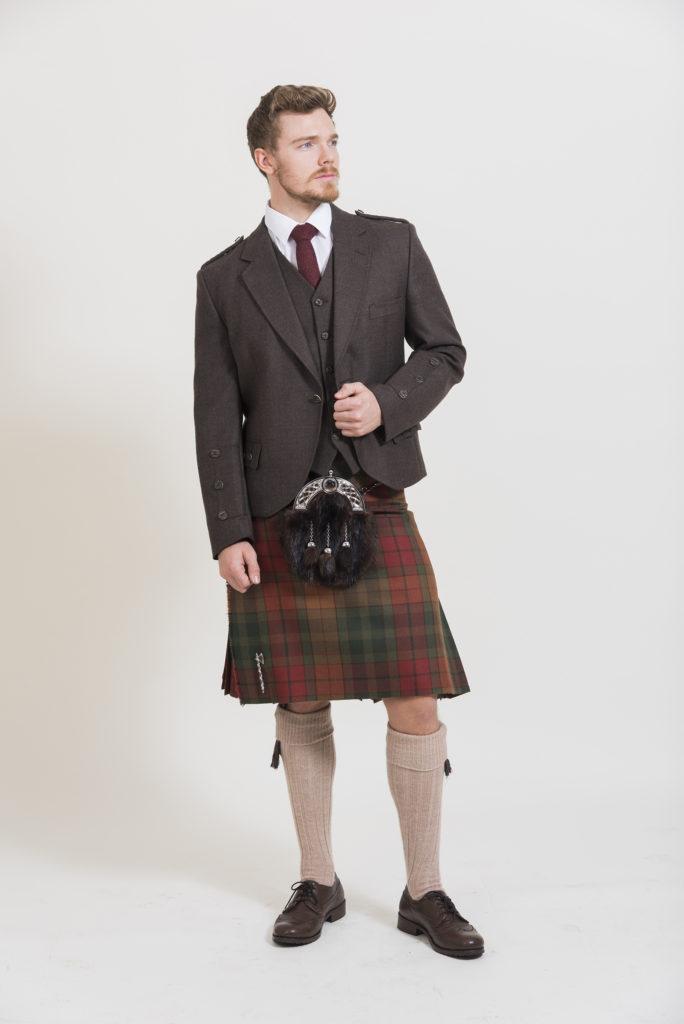 Peat Brown Tweed Outfit
