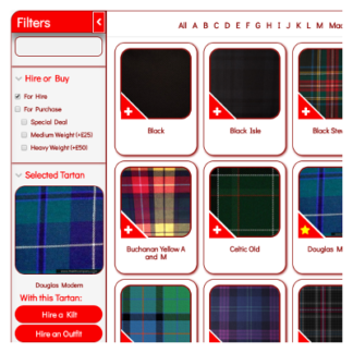 Browse our Tartans for Hire