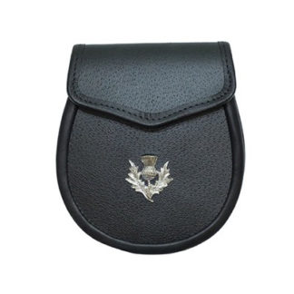 Leather Sporran With Thistle Crest