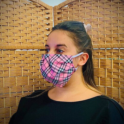 Pink Tartan Face Mask