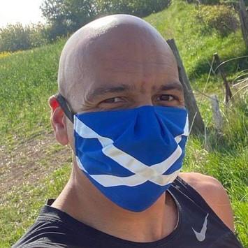Saltire Face Mask