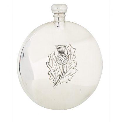 3oz Thistle Sporran Pewter Flask