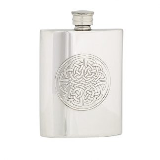 4oz Celtic Knot Pewter Flask