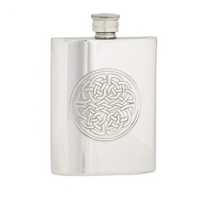 4oz Celtic Knot Pewter Flask