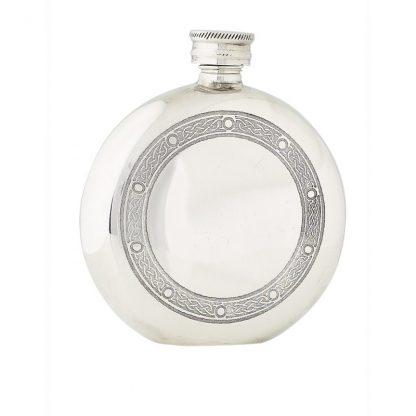 6oz Celtic Frame Pewter Flask