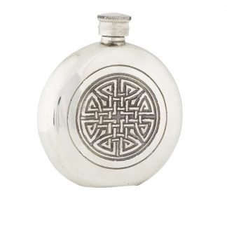 6oz Celtic Knot Pewter Flask