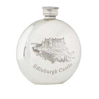 6oz Edinburgh Castle Pewter Flask