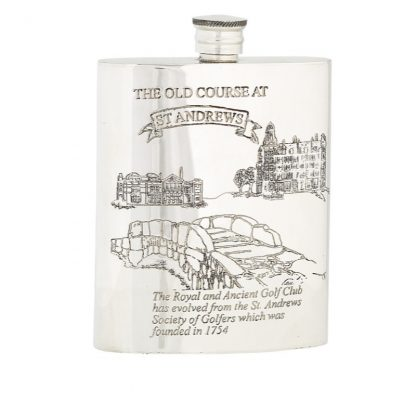 6oz The Old Course Pewter Flask