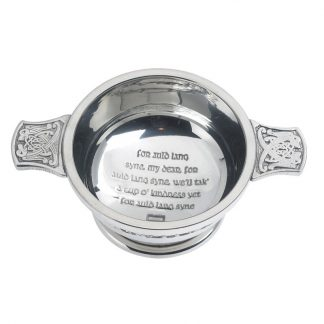 Auld Lang Syne Pewter Quaich 3""