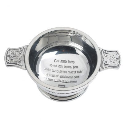 """Auld Lang Syne Pewter Quaich 3"""""""