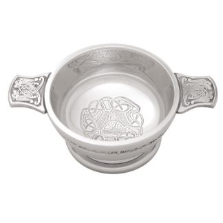 Celtic Band Pewter Quaich 3""