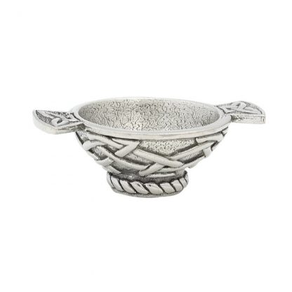 Celtic Knot Mini Pewter Quaich 1.75""