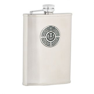 Celtic & Thistle Stainless Steel Flask
