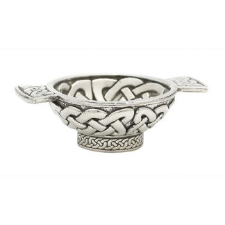 Celtic Weave Mini Pewter Quaich 1.75""
