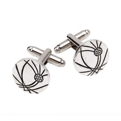 Etched Thistle Cufflinks