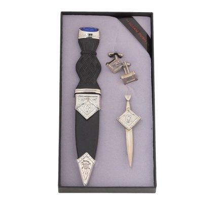 Masonic 3 Piece Gift Set With Stone Top