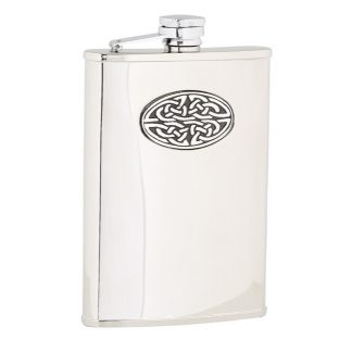 Oval Celtic Stainless Steel Flask