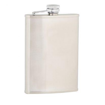 Plain Satin Stainless Steel Flask