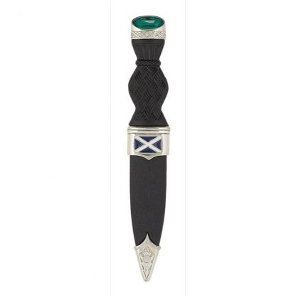 Saltire Sgian Dubh With Emerald Stone Top