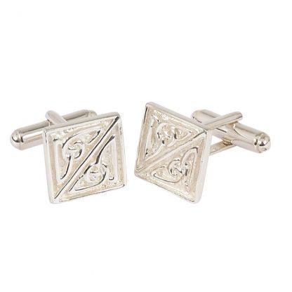 Square Celtic Silver Cufflinks
