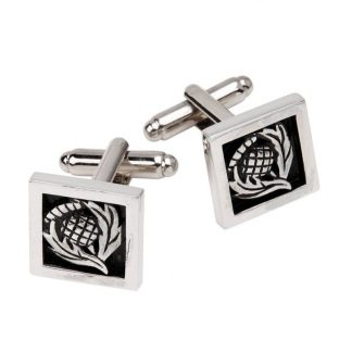 Square Thistle Cufflinks