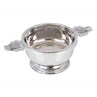 Thistle Chrome Plated Quaich 4""