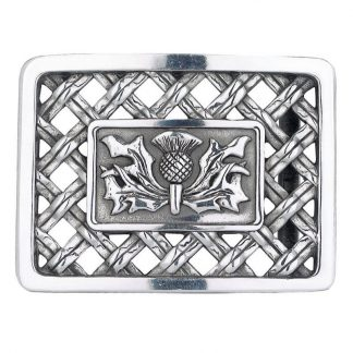 Thistle Open Weave Belt Buckle