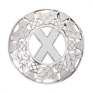 Thistle – Saltire Plaid Brooch