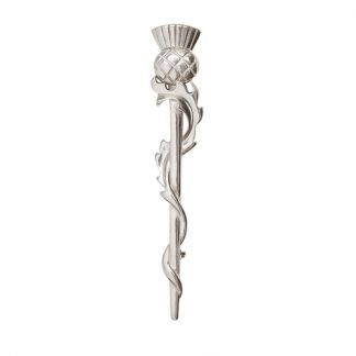 Thistle Weave Pewter Kilt Pin