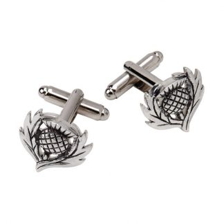 Traditional Thistle Polished Cufflinks